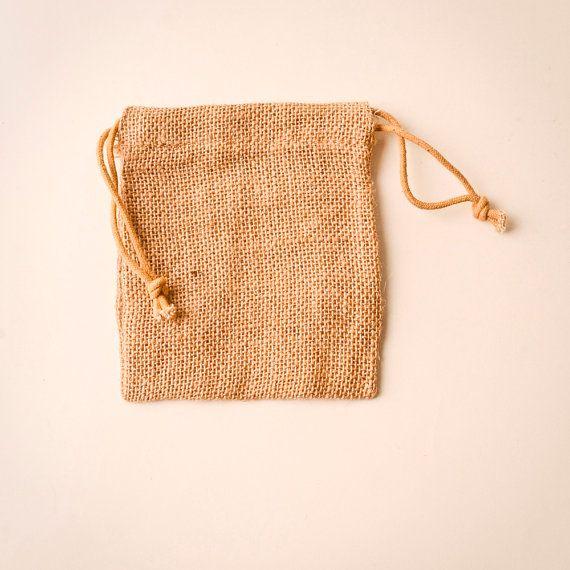 24 Burlap Bags 6x10, Jute, Natural Drawstring Sack, Rustic Gift Bag Wedding Favor