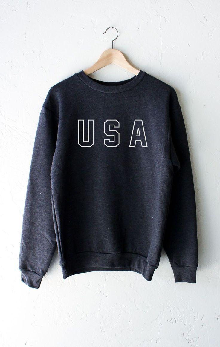 USA Sweater - Dark Heather Grey