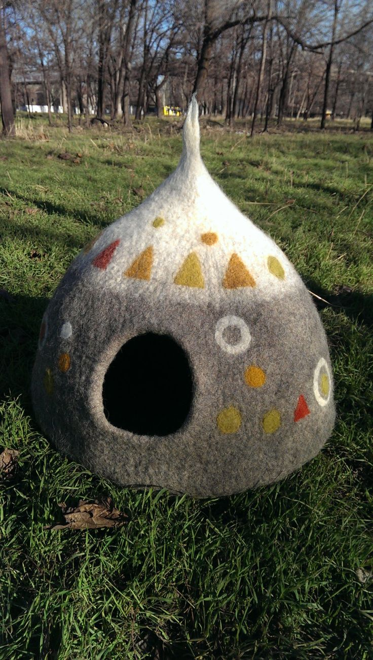 Cat house Cat cave Felted Cat house Felt cat cave от feltedtown