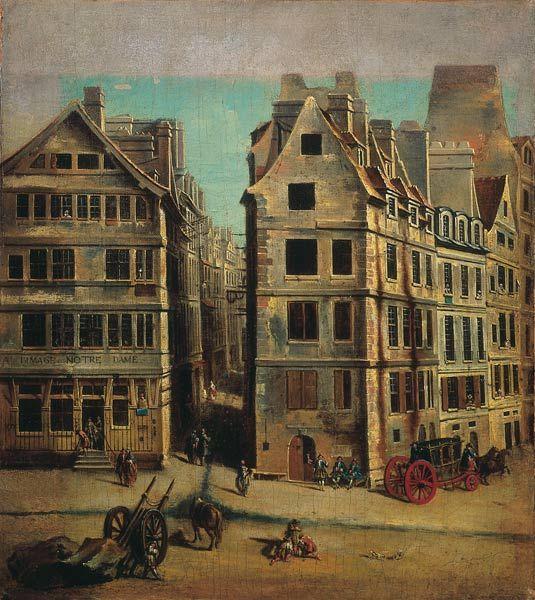 Jean-Baptiste Raguenet Le Cabaret à l'Image Notre-Dame, place de Grève Huile sur toile, 1751 (38,5 x 34 cm) Paris, musée Carnavalet