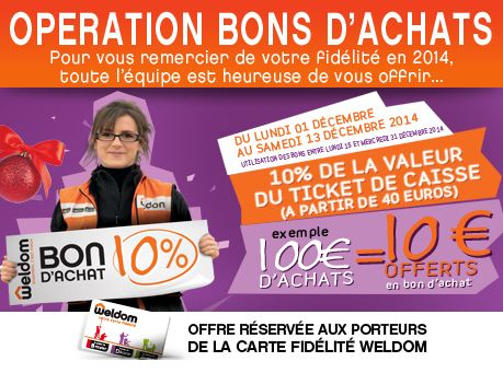 Bons d'achats WELDOM CHAUMONT http://www.mon-weldom-chaumont.com/actualites/actualite-operation-bons-d-achat-_wdm-actus_itemID172.html