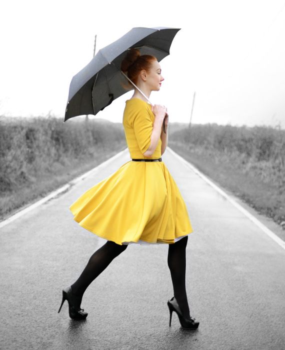 Trzy stylizacje: żółta sukienka na wiosnę  Forever Amber  Więcej na Moda Cafe!