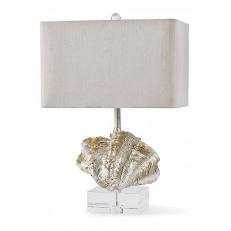 Regina Andrew Silver Giant Clam Shell Lamp