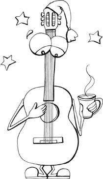 music coloring book page