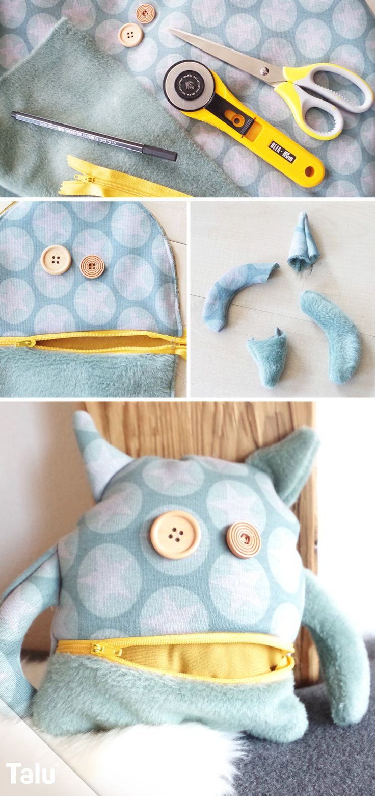 Sew Monster – Instructions for a cuddly monster