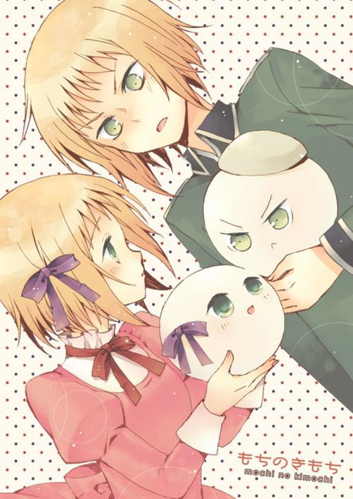 Switzerland and Liechtenstein. Hetalia .. there two mochi's together are just too cute...as much as Vash acts cruel and unrelenting..he couldn't take care of Liech the way he does if he wasen't kind deep deep really deep down inside. *grin*
