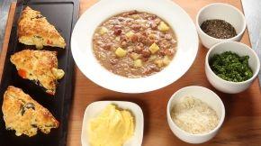 Yota Soup with Savoury Scone