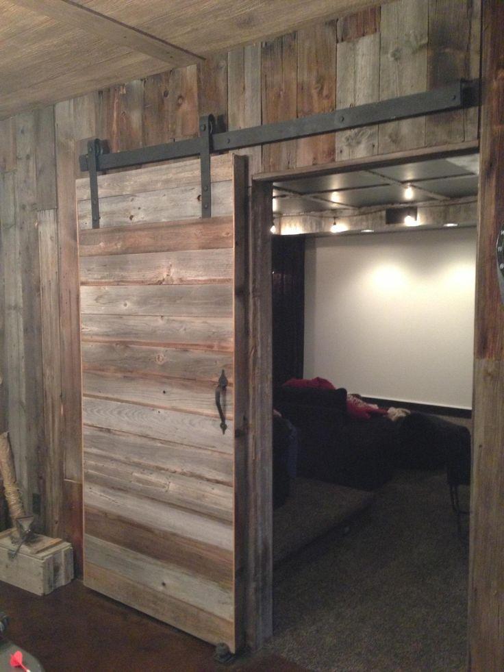 1000 ideas about sliding door treatment on pinterest for Inside barn door ideas