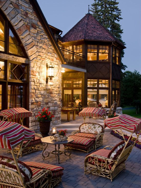 many things to enjoy about this. Stone back patio