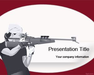 Olympic Shooting PowerPoint Template is a free PPT template for Olympics Games #sport #powerpoint