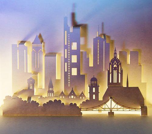 3D paper pop-up-cities