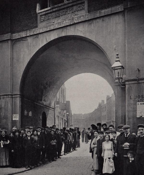 Shepherds Place arch, Spitalfields, London.