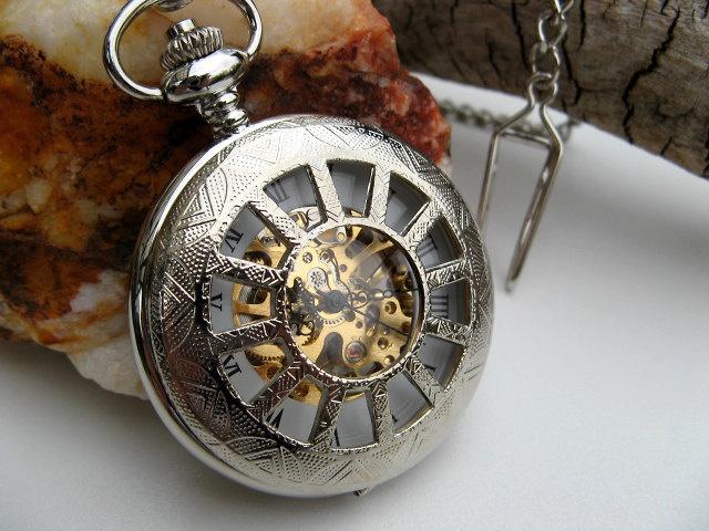 Silver Pocket Watch Victorian Mechanical