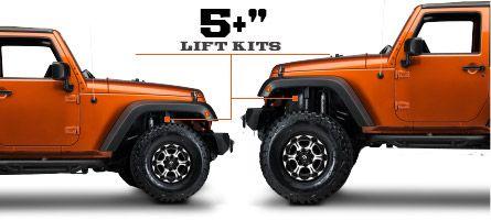 Jeep JK Lift Kits 5 Inch & Up (2007-2016 Wrangler)