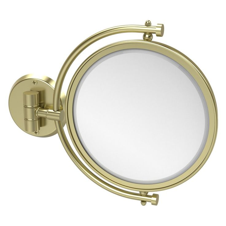 Allied Brass Wall Mounted Makeup Mirror with 5X Magnification - WM-4/5X-SBR