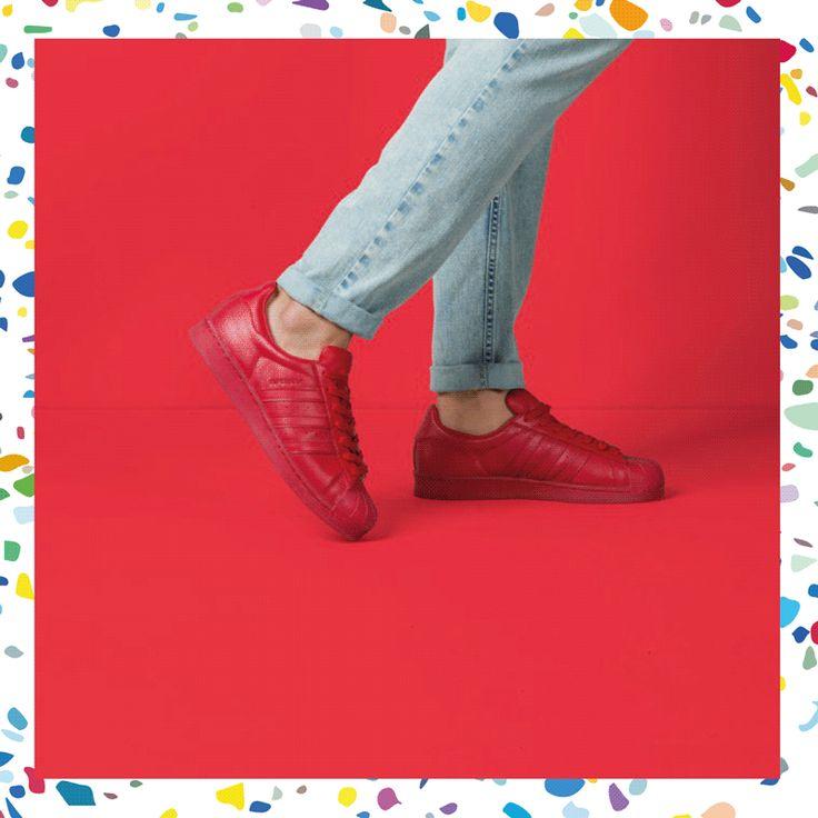 Colour me red. #superstar #adicolor