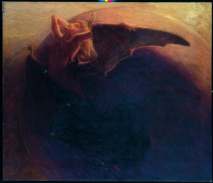 Gaetano Previati, Il giorno sveglia la notte, 1905, Trieste, Museo Civico Revoltella. © Archivi Alinari, Firenze