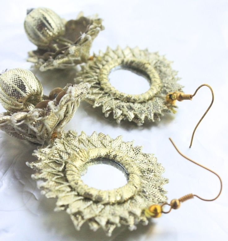 Handmade jewellery using traditional gota materials to make your summer wardrobe that much more fun!Please note that this is a handmade product and thus there may be some irregularities in it ,all adding to the charm of the product!Care: As this item is handmade using delicate materials, special care must be taken when using. Please keep away from water and heat.About: Gota jewellery is very commonly worn by brides and friends in Pakistan for weddings, typically on the...