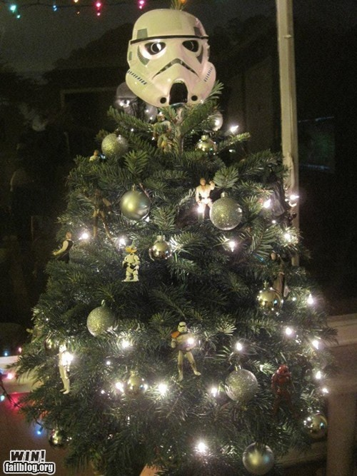 Star Wars tree~ for Andrew's bedroom tree next year!
