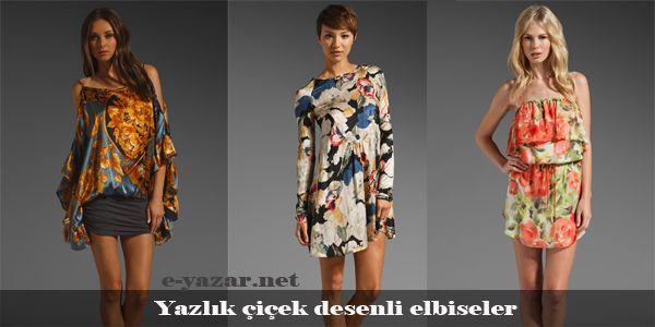 cool Çiçek desenli yazlık elbiseler