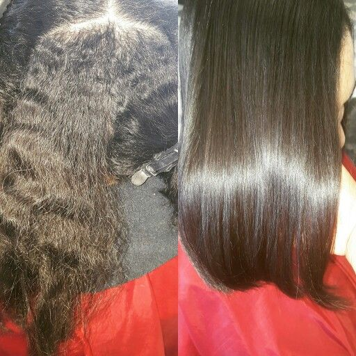 Before and after relaxer. Hair by Evy in Torrance text me at 424 215-8362