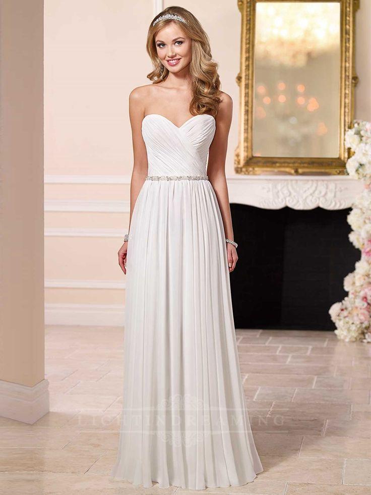 Glamorous Chiffon Sheath Sweetheart Wedding Dress
