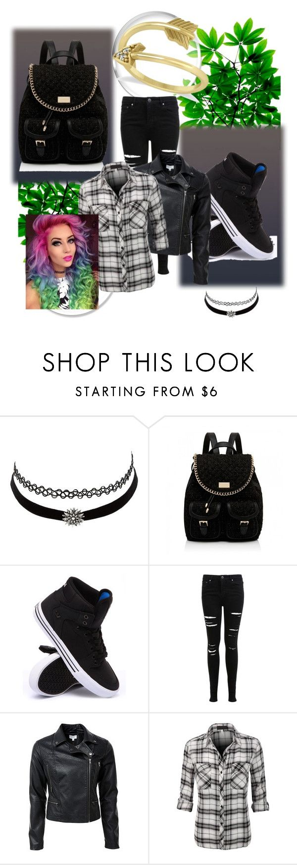 """mujer rockera ropa"" by tyciasilva ❤ liked on Polyvore featuring Charlotte Russe, Forever New, Supra, Miss Selfridge and Allurez"