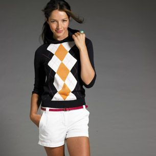 I love argyle, and the thin belt makes this outfit.