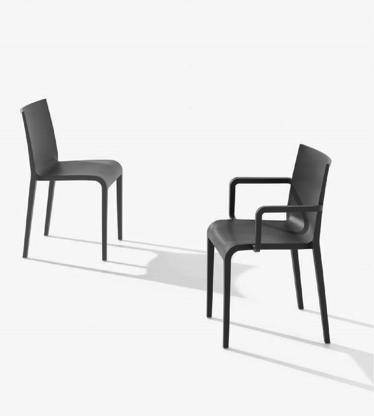 Nassau 2.0 in Black. Air-molded polypropylene armchair, stacks 8. Designed by Marc Sadler for the Metalmobil collection.