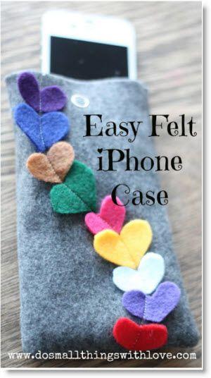 iPhone Case http://felting.craftgossip.com/2013/02/09/four-inspiring-felt-valentines-day-tutorials/#