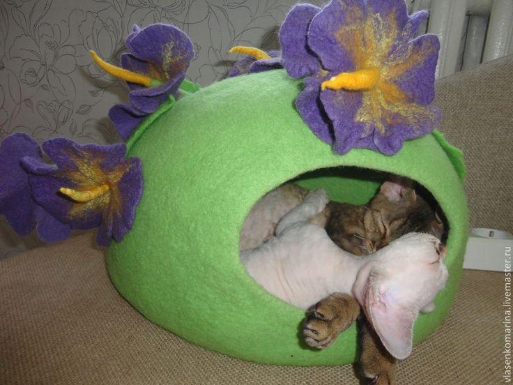 Купить Домик для кошки Райский остров - салатовый, дом для животного, домик для кошки