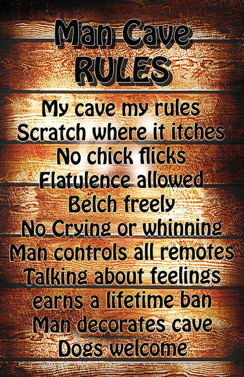 Man Cave Poster Ideas : Man cave rules poster vintage style colors and firefighters