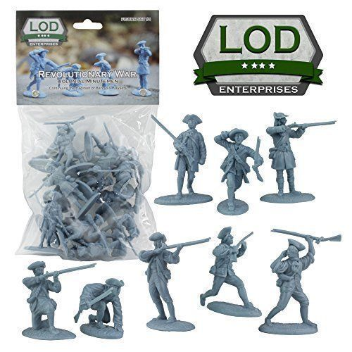 Barszo-LOD-Revolutionary-War-Colonial-Minutemen-16-Plastic-Toy-Soldiers-BLUE