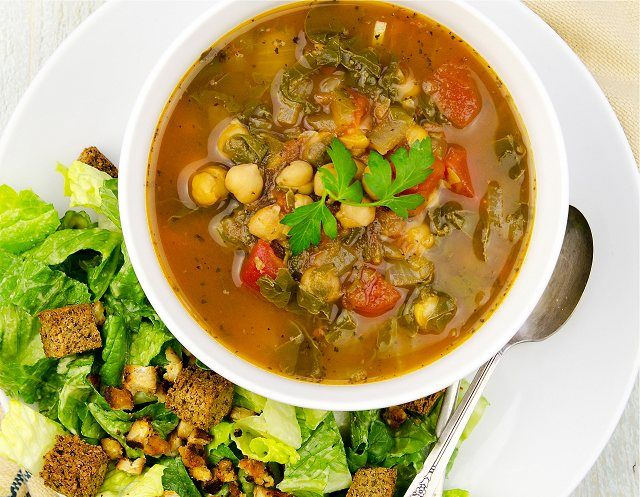 Chard and Chickpea Soup from Living Candida-Free By Ricki Heller - This gluten-free vegan chard and chickpea soup from Ricki Heller's book Living Candida-Free is super easy, healthy, and delicious!