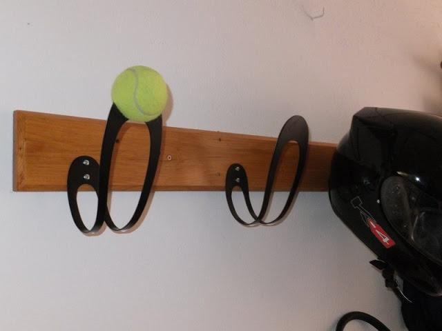 Lovely Easy DIY Helmet Hanger | October 11, 2012 | Ikeahackers.net