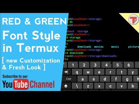 Termux 2: Red And Green font style in Termux | Termux new