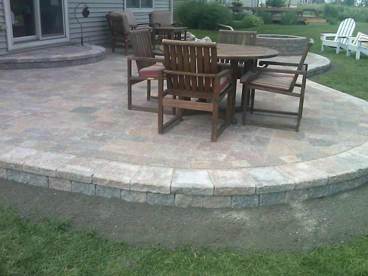 Paver patio ideas pavers we do the finish sweep with the for Pinterest patio pavers