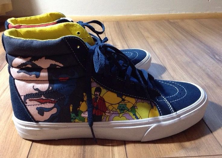 Vans The Beatles Reissue Yellow Submarines SK8 High Tops NEW Womens 8.5 Shoes