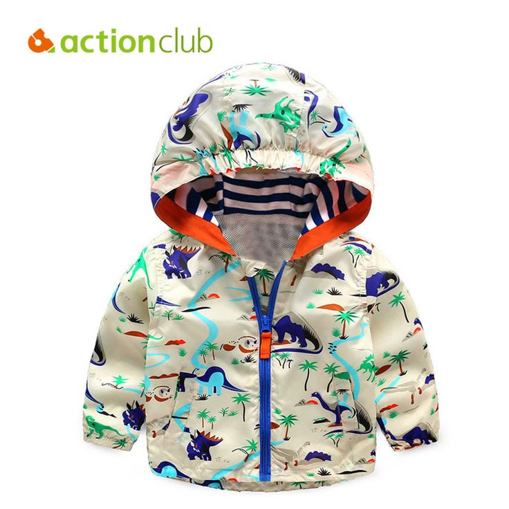 Acitonclub 2016 Baby Boys Jackets Children Hooded Dinosaur Printed Boys Outerwear 2-6T Kids Windbreaker Spring Autumn Clothes //Price: €16.36 & FREE Shipping //   #fashion #baby #clothes #trendy #2017