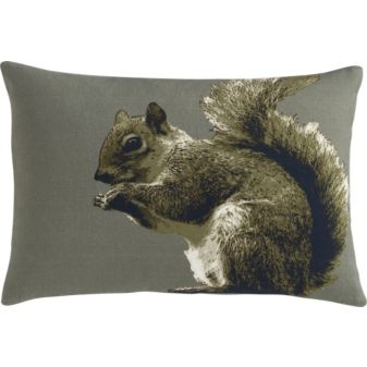 Squirrelly, $29.95. CB2.com: Pillows Cb2, Gifts Ideas, Amazing Pillows, Eastern Foxes Squirrels, Squirrels Pillows, Cb2 Pillows, Squirrelli 18X12, Squirr Pillows, 18X12 Pillows