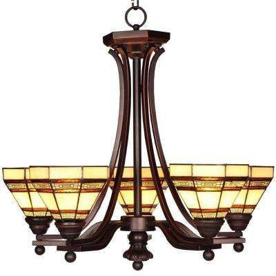 Hampton Bay Addison Oil Rubbed Bronze Chandelier 14786 At The Home Depot Tablet