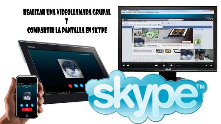 Como realizar una videollamada grupal en Skype, añadir y eliminar integrantes de la misma y como compartir la pantalla del escritorio o una ventana de una ap...