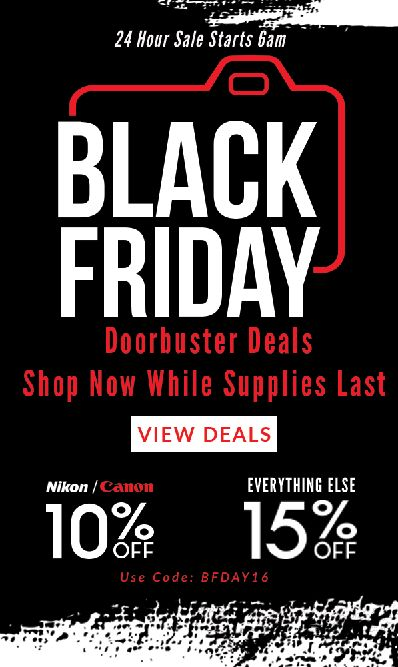 http://www.great-landscape-photography.com/black-friday-deals-keh-cameras-save-10-canon-nikon-15-everything-else/  Well, Black Friday is upon us once again and the buying frenzy at this time of year is about to kick off. KEH Cameras are running a 12-hour sale today...