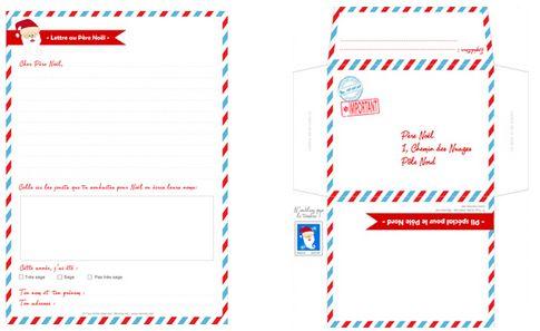 Lettre au Père Noël à imprimer - Momes.net                                                                                                                                                                                 Plus