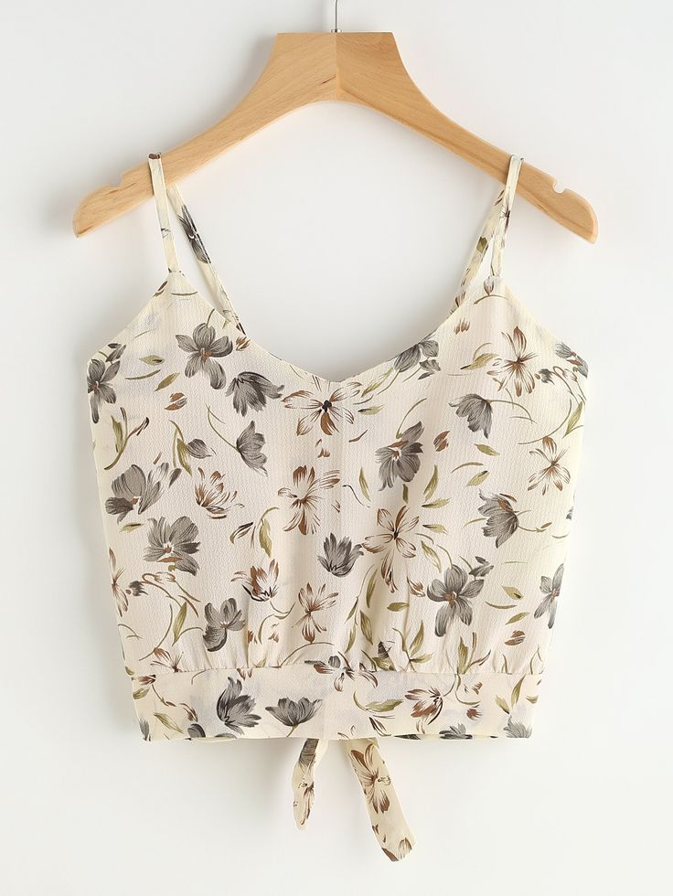 Shop Calico Print Knot Back Cami Top online. SheIn offers Calico Print Knot Back Cami Top & more to fit your fashionable needs.