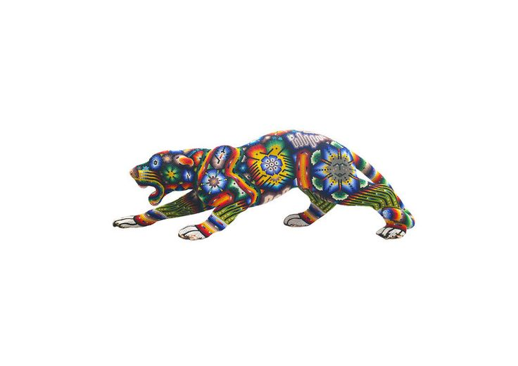 Mexican print for kids rooms -Jaguar Huichol