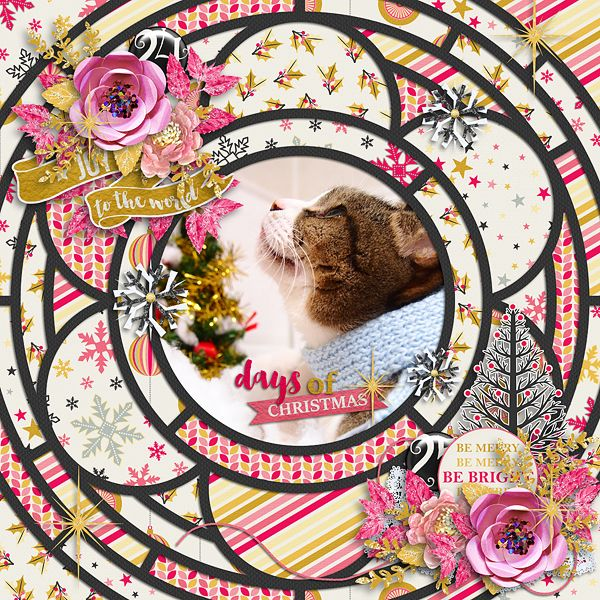 Day of Christmas  Template : Crazy Squares 07 by Akizo Designs http://www.thedigichick.com/shop/Akizo-Designs/  Kit : Home For The Holidays by Cornelia Designs  Photos : catwhiskers