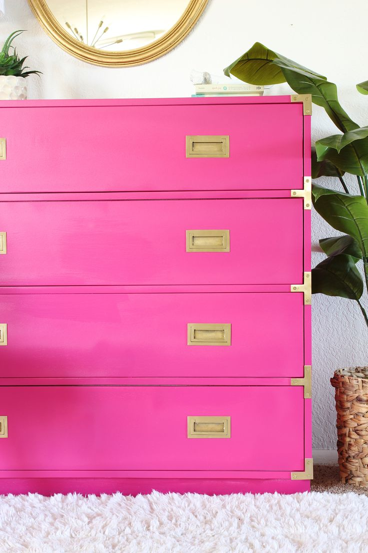 best dressers  ave home images on pinterest  dressers  - amazing hot pink campaign dresser makeover