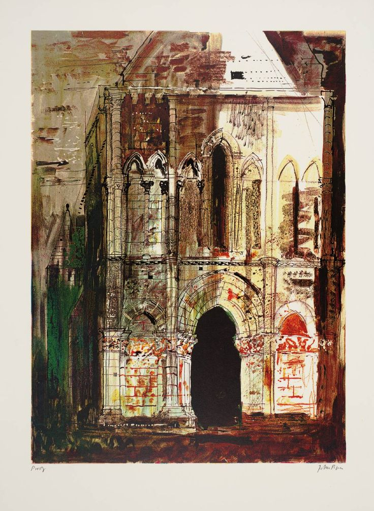 John Piper 'Montpellier de Didonne, Charente', 1968 © The Piper Estate