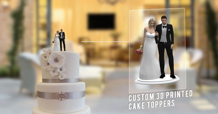 3D Printed Wedding Cake Toppers Our Wedding Cake Topper